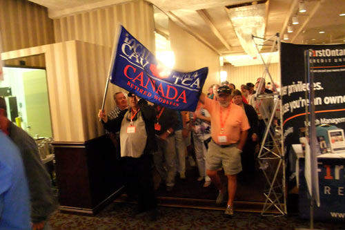 Local 584 Retirees starting to enter convention hall
