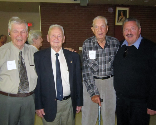 Don Farquason, Konrad Wilski Harry Crossley and Chris Wilski