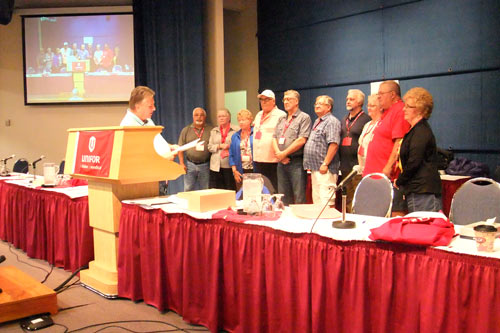 Lewenza Swears in new Retirees Executive