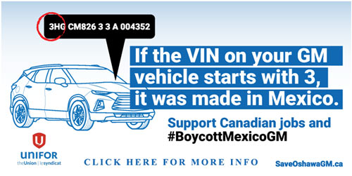 Boycott GM Cars from Mexico