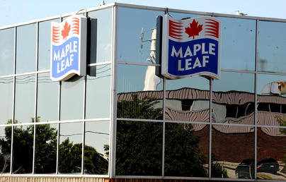 Production was shut down at Maple Leaf's plant on Bartor Road in north Toronto after contaminated meat was discovered.