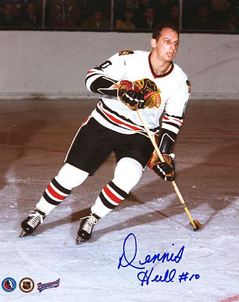 Dennis Hull when he played for the Black Hawks