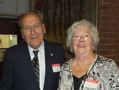 Picture of Jim and his wife Cors taken October 9, 2009 at our Retirees Thanksgiving Luncheon