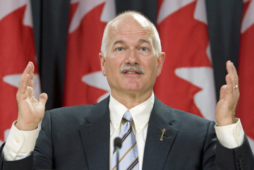 NDP Leader Jack Layton holds a news conference on reforming the national pension system in Ottawa on Thursday, October 22, 2009. The Canadian Press