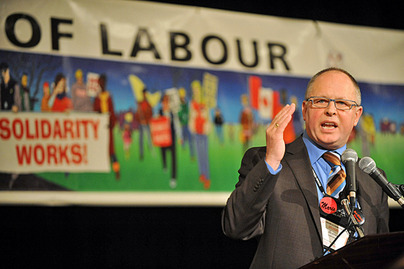 Sid Ryan addresses delegates of the OFL, an umbrella group for the province's most powerful unions, Nov. 26, 2009.