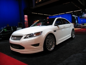 Tommy Z Design of Hudsonville showed off this modified Taurus on the Ford stand at the recent SEMA Show and hopes to have its customized parts available through Ford dealerships soon. (Larry Edsall / Special to The Detroit News)