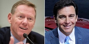Alan Mulally, left, and Mark Fields