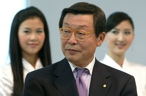 Yoshimi Inaba, Toyota's executive vice president, refuses to rule out layoffs or plant closings. (Stephen Shaver / Bloomberg News)