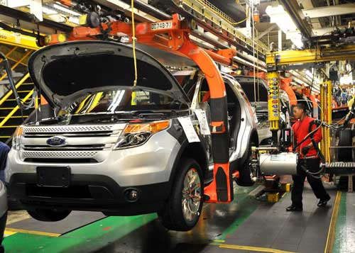 The all-new SUV has started rolling off of the assembly line in Chicago. (Ford)