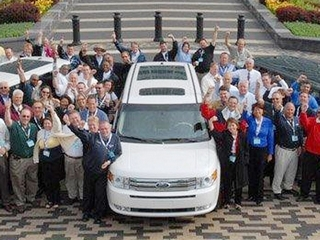 Detroit-area Ford dealers get their first 2009 Flex in June 2008. Despite the low sales numbers, Ford says it remains committed to the vehicle. (Ford)