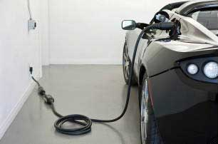 The Tesla Roadster, one of the few zero-emission vehicles available here. Tesla