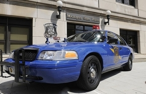 Police departments throughout the country, including the Michigan State Police, have enjoyed years of patrols in Ford Crown Victorias. (Elizabeth Conley / The Detroit News)