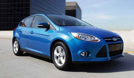 The all-new 2012 Focus becomes Ford's fourth vehicle with an Environmental Protection Agency-certified rating of 40 mpg or more. (Ford)