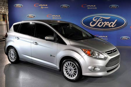 The C-max hybrid, on sale in 2012, will be available as a two-mode hybrid, as well as a plug-in hybrid. There won't be a gasoline version. (Ford)