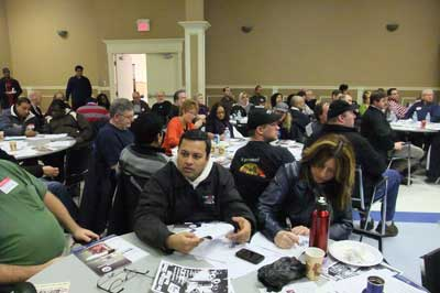 CAW LOCAL 584 Takes up two tables