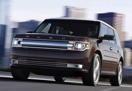 A refreshed Ford Flex will be shown at next week's Los Angeles Auto Show. The 2013 model drops the Ford blue oval in favor of Flex branding. Analysts wonder how long Ford will keep it in the lineup, but Ford has taken pains to distinguish the Flex from the Explorer. (Ford)