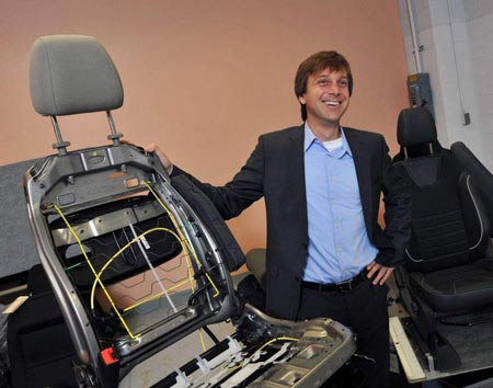 Ford is building a lighter seat for its new Ford and Lincoln vehicles. (Ford)