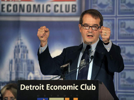 """We're very concerned about that entry-level member having a middle-class standard of living, which I would argue they don't at the current rates,"" he told reporters Monday after a speech at the Detroit Economic Club. ""I would say that's our highest priority."" (Clarence Tabb,Jr./The Detroit News)"
