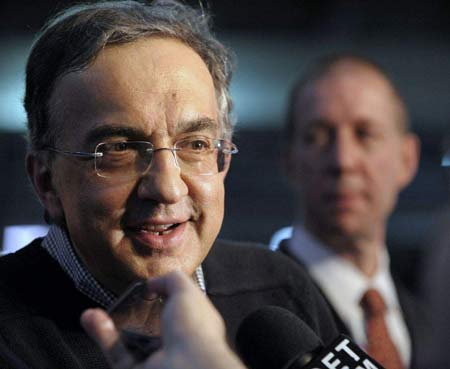 Even CEO Sergio Marchionne said he didn't think Chrysler could pay back the government so quickly. (Todd McInturf / The Detroit News)
