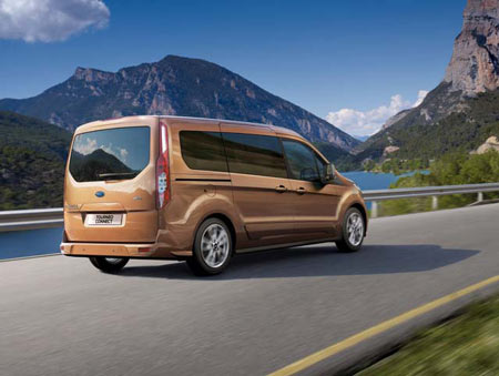 The Transit Connect Wagon will be built on Ford's global C-segment platform shared by models like the Focus compact and Escape SUV. (Ford Motor Co.)