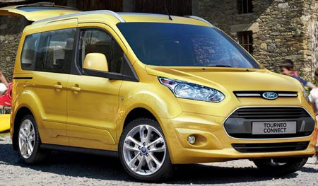 Ford Motor Co.'s new Transit Connect Wagon will look like the European Tourneo Connect, pictured here. Ford Motor Company