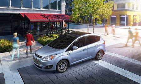The C-MAX Energi has a projected 188 horsepower and has a 2-liter, four-cylinder engine and a battery-powered electric motor. (Ford)