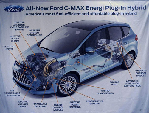 Ford's C-Max Energi takes longer to build than a Focus but can be built in the same flexible facility. / Todd McInturf / The Detroit News