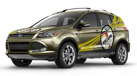 "The 2013 Ford Escape starred in the reality TV series ""Escape Routes,"" a show that featured a cast of six teams of two in a road-trip contest. (Ford)"
