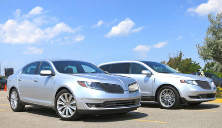 2013 Lincoln MKS (foreground) and 2013 Lincoln MKT
