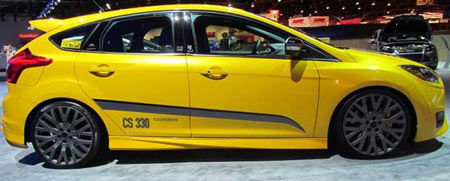 M&J Enterprises, Cosworth and Ford Racing combined their efforts and their parts to turn the already sporty Ford Focus ST into a road-going rocket. (Larry Edsall / Special to The Detroit News)