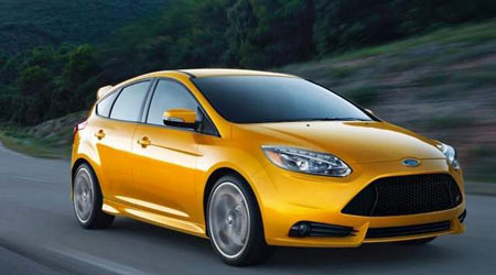 The Ford Focus ST ,has a starting price of $23,625. chosen. Nearly 40 percent of ST buyers have chosen the most expensive interior package, which costs an extra $4,800. (Ford)