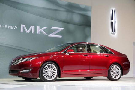 The Lincoln MKZ hybrid debuted with the 2013 model. Ford's decision to boost production comes as electric vehicle sales are increasing. (Mark Lennihan/AP)