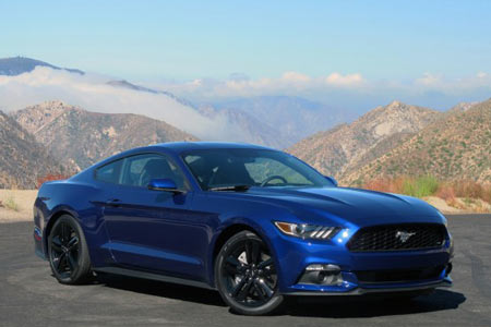 "Unmistakably a Mustang, the original ""Pony Car"" enters its second 50 years which iconic styling with leading edge technology. Shown is the EcoBoost Performance Package version."