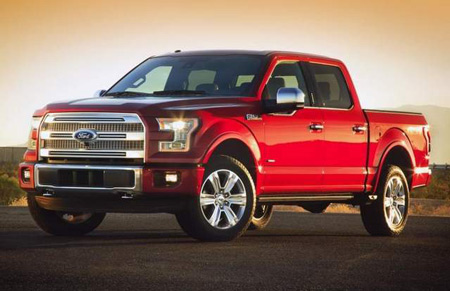 Ford's aluminum-bodied 2015 F-150 (Ford)