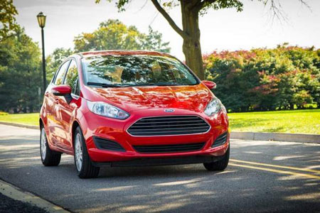 2014 Ford Fiesta. The percentage of Fiesta car buyers who choose the optional 1-liter is 4-8 percent, depending on the month. (Ford)