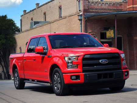 The all-new 2015 Ford F-150 on the streets of San Antonio and off-road in the Texas back country. Regardless of model configuration or engine choice, every F-150 customer benefits from up to 700 pounds of weight savings with its high-strength steel frame and high-strength, military-grade aluminum alloy body. (Photo: Ford)