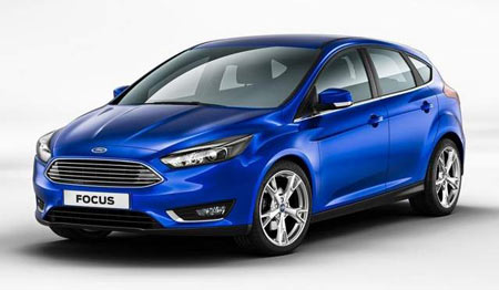 Ford on Sunday introduced the five-door hatchback Focus at the Geneva Motor Show. (Tom Nowak / Ford)