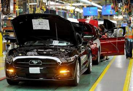 First Ford 2015 Mustang rolls off line in Flat Rock