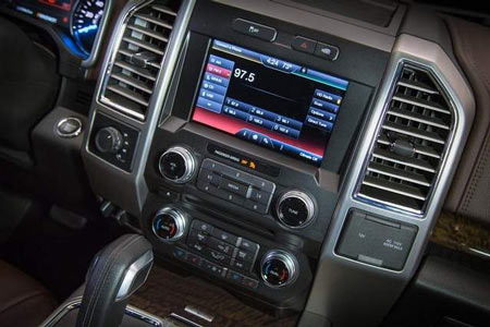 Control knobs and buttons will make their return on the 2015 Ford F-150. (Ford)