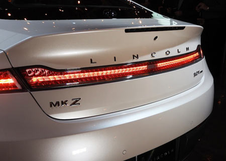 Outside, the MKZ features the new look Lincoln Rear.
