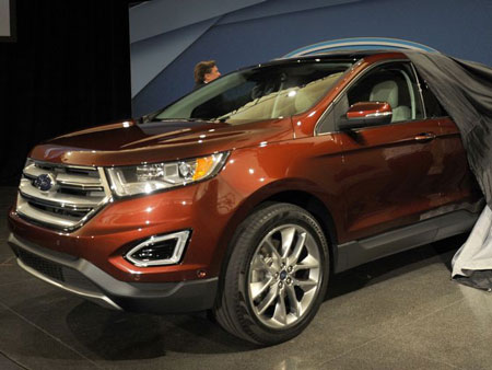 Ford takes the wraps off of the 2015 Edge Crossover at a press conference at the Ford Product Development Center in Dearborn, June 24, 2014