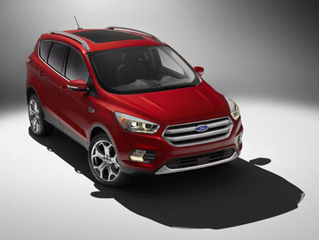 The fourth-generation 2017 Ford Escape will be unveiled at the Los Angeles Auto Show. Ford promises significant upgrades for features like lane keeping and park assist, adaptive cruise control, lane-departure warnings and a driver alert system. The model will go on sale in the summer of 2016.  Ford Motor Co.