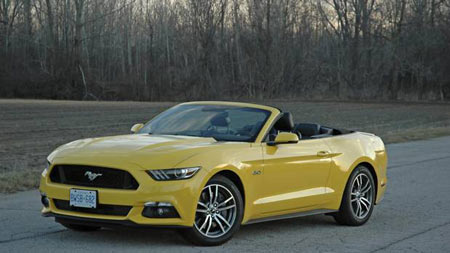 It takes about 11 seconds to drop the top on the Ford Mustang.