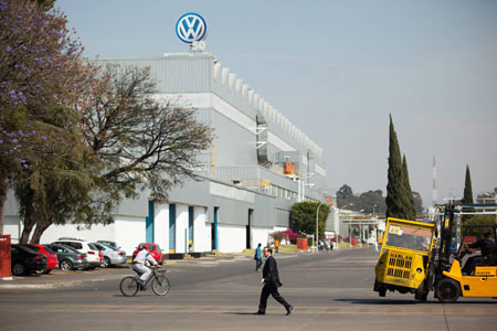 Outside the Volkswagen factory in Puebla, Mexico, on Jan. 21, 2015. (Brett Gundlock for The Globe and Mail)