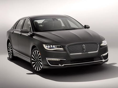 "The MKZ's new, one-piece grille is a departure from the current generation's ""split wing"" grille."