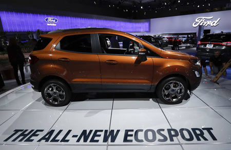 The auto maker will export the EcoSport—the smallest SUV in Ford's global lineup—from its plant near the southern Indian city of Chennai. Photo: Associated Press