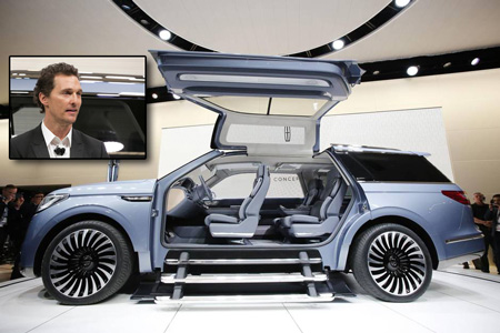 The Lincoln Navigator Concept is shown at the New York International Auto Show Actor Matthew McConaughey introduces the Lincoln Navigator Concept at the New York International Auto Show