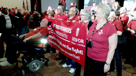 Rick at the Dec 4, 2015 Retirees  Rally in Toronto - Photo by Chris Wilski