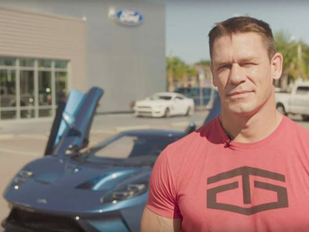 In a suit filed Thursday in U.S. District Court, the automaker charges that Cena took delivery of the car in September. A few weeks later, Ford learned he had sold it.
