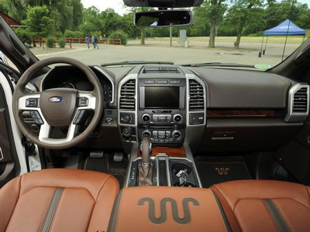 The interior of the F-150 King Ranch series. (Photo: Jose Juarez / Special to Detroit News)